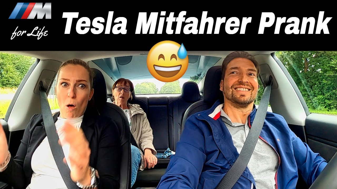 Tesla Model 3 Performance | Mitfahrer Prank | Die Reaktionen sind soo genial! 😅