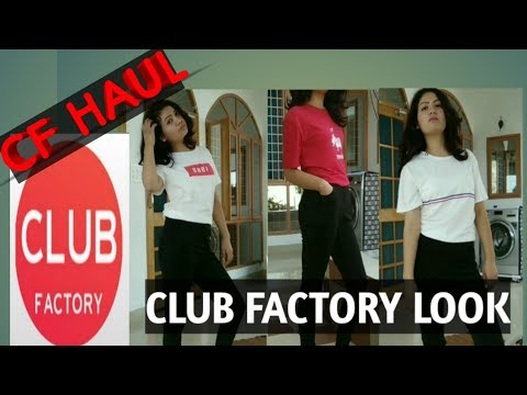 3a86c8d3ed Club Factory Clothing Haul   Women's T. SHIRTS AND JEGGINGS   Online  Shopping