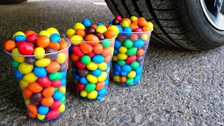 Crushing Crunchy & Soft Things by Car! Experiment Car vs Cola, Fanta, Slime Surprise Eggs