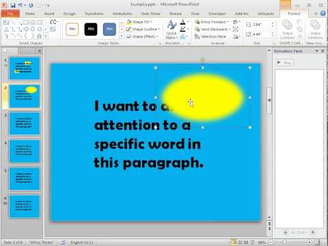 PowerPoint tips: Using an illumination effect to emphasize on-screen text