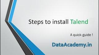 Steps to install Talend