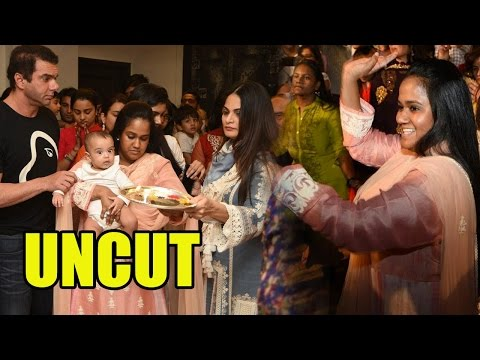 UNCUT: Bollywood Celebs At Salman Khan's Residence For Ganpati Visarjan!