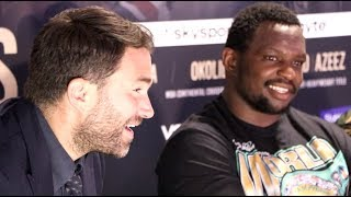 DILLIAN WHYTE v OSCAR RIVAS (FULL) POST-FIGHT PRESS CONFERENCE WITH EDDIE HEARN & MARK TIBBS / o2