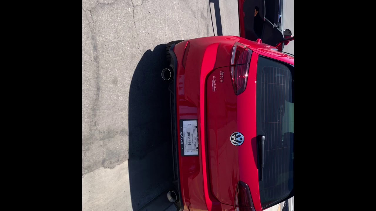 2020 Volkswagen GTI Muffler's deleted