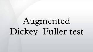 augmented dickey fuller test