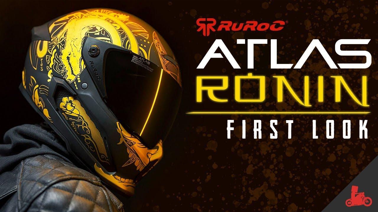 Ruroc Atlas RONIN Motorcycle Helmet - First Look!