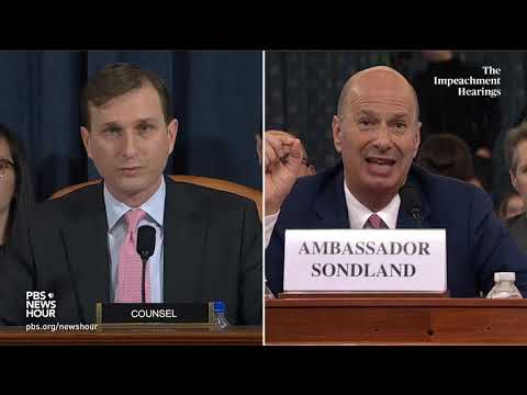 WATCH: Democratic counsel's full questioning of Gordon Sondland | Trump impeachment hearings