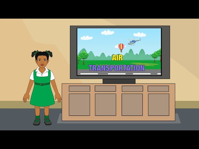 Animated Air Transport Videos for Children |Let's Learn Together
