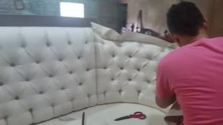 D'Garcia muebles, como se tapiza un mueble capitoneado