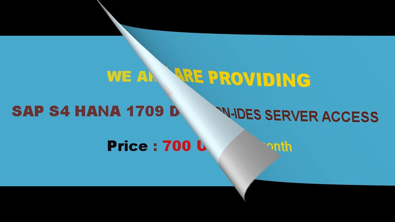 SAP S4HANA 1809 Remote server Access | S4 HANA Simple Finance | S4