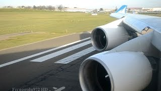 EPIC Pratt & Whitney ROAR!! Boeing 747 TAKE OFF from Paris