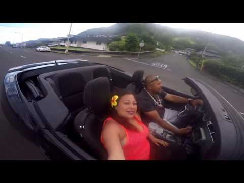 Driving to manoa falls in Oahu