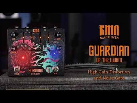 KMA Machines GUARDIAN of the WURM - High-Gain Distortion Pedal with built-in VCA Noise Gate