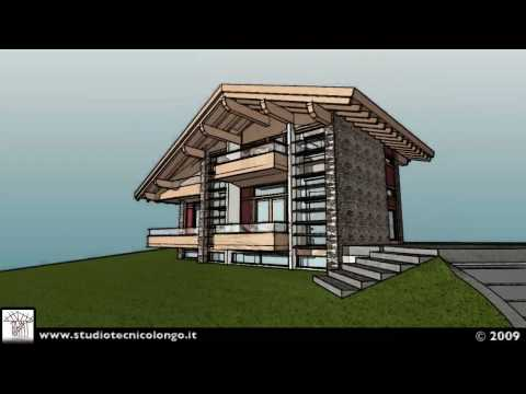 Progetto per una villa di montagna giacomo longo 2009 for Progetto villa moderna