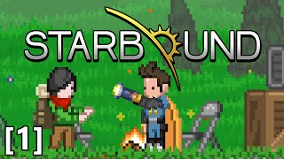 Repeat youtube video Starbound - Part 1 - Core Fragment Ore, Pixel Slicer Axe