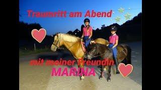 Lenispferdewelt - Traumritt am Abend mit meiner Freundin Marina♥