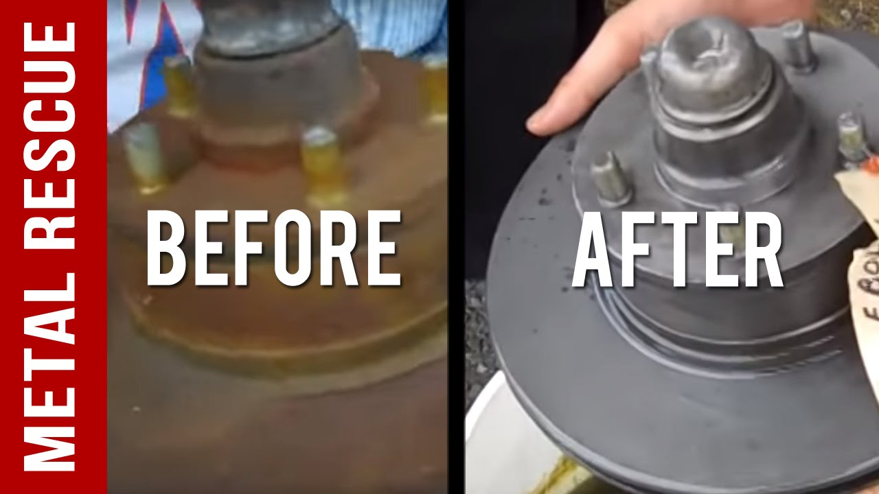 Brake Dust Cleaner >> How To Remove Rust from a Brake Rotor - YouTube