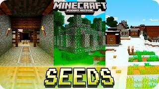 Minecraft PE Seeds - Jungle Temples, Mineshaft and Villages with Houses! MCPE 1.2 / 1.1