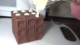 How I made a functional CHOCOLATE Rubik's Cube (edible puzzle by Tony Fisher for Easter)