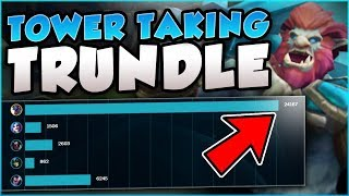 NO TEAM NEEDED?! 1v9 TOWER TAKING TRUNDLE BUILD! TRUNDLE SEASON 8 TOP GAMEPLAY! - League of Legends