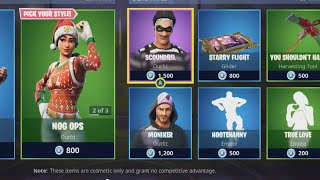 **NEW** CHIRSTMAS SKINS!! FORTNITE ITEM SHOP DECEMBER 9TH, 2018