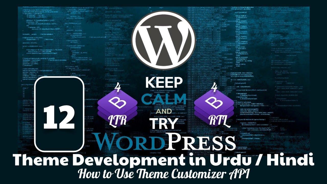 Download Part 12 WordPress Theme Development Tutorial in Urdu 2019: How to Use WordPress Theme Customizer API