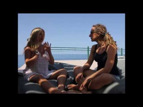 Coral Brown tells a yoga story in Crete
