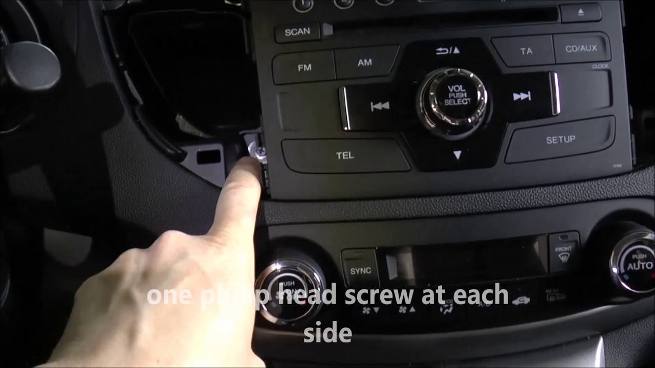 hight resolution of how to remove the head unit stereo on honda cr v 2012 2017