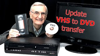 Update, how to transfer VHS tape to DVD using combo recorder