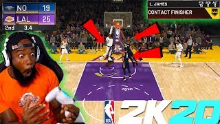 NBA 2K20 LEBRON DUNKS ON 3 PLAYERS! TAKEOVER OP! Lakers vs Pelicans!