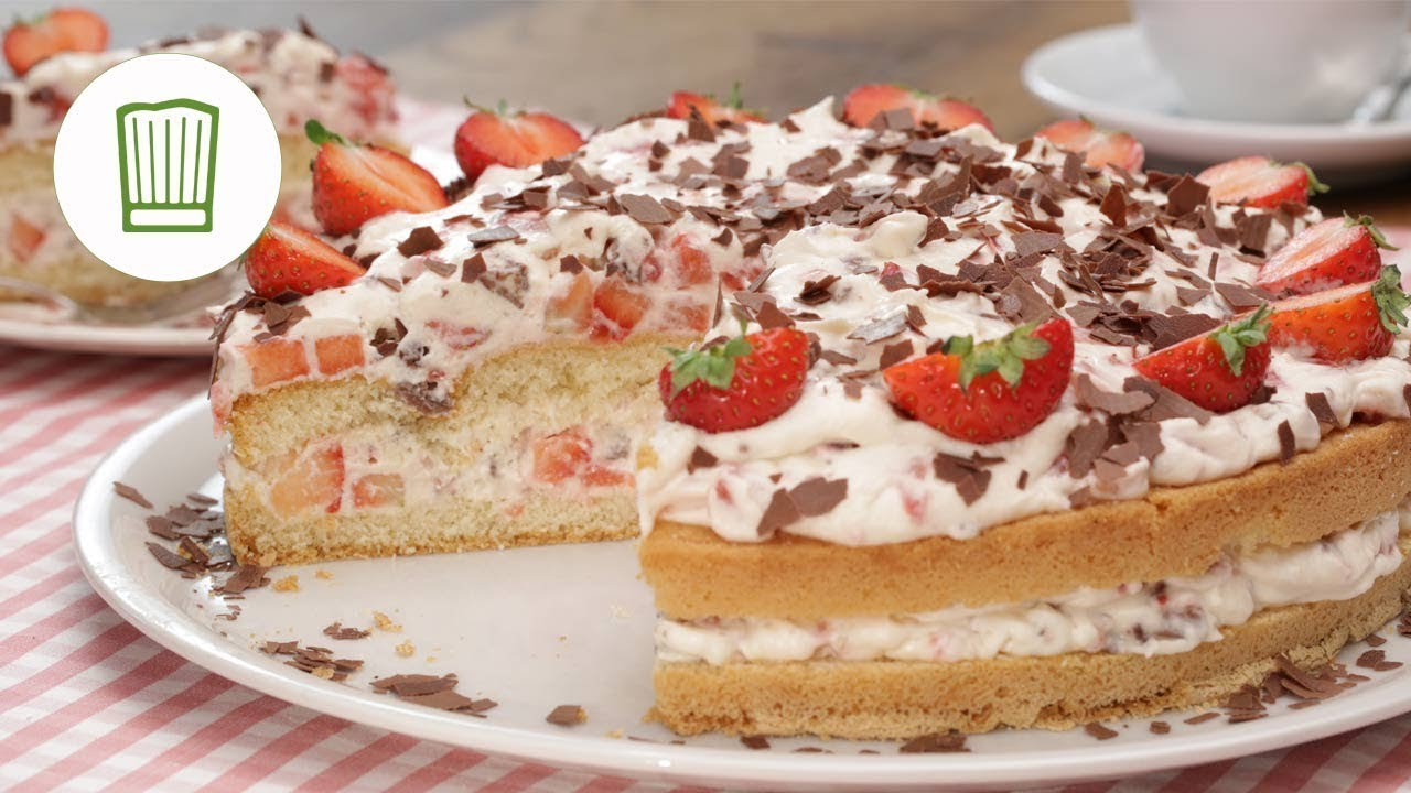 Yogurette Torte Schokolade Kusst Erdbeere Chefkoch De Youtube