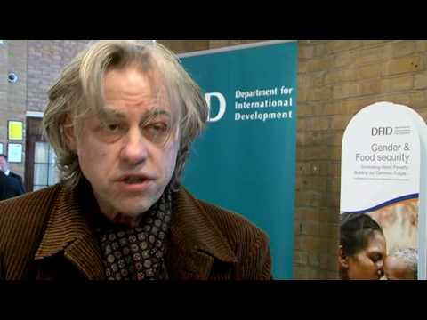 DFID Youth Reporters Chris Cooper interviews Sir Bob Geldof