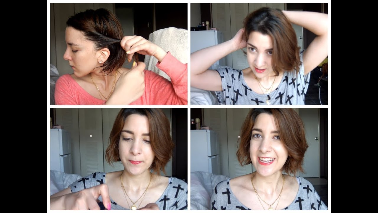 How To Style Short Hair Without Heat How To Curl Short Hair Without Heat  Youtube
