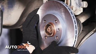 Cómo cambiar discos de freno delanteros y pastillas de freno VW LUPO INSTRUCCIÓN | AUTODOC