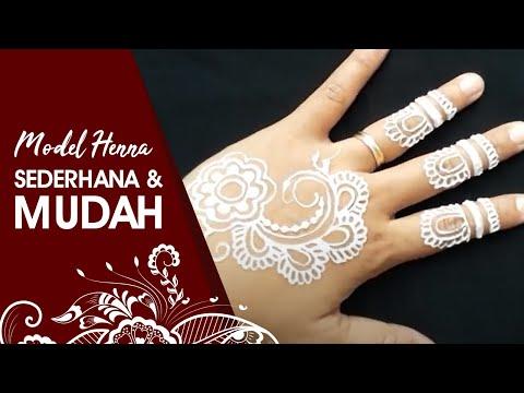 Gambar Henna Tangan Yang Mudah Dan Bagus