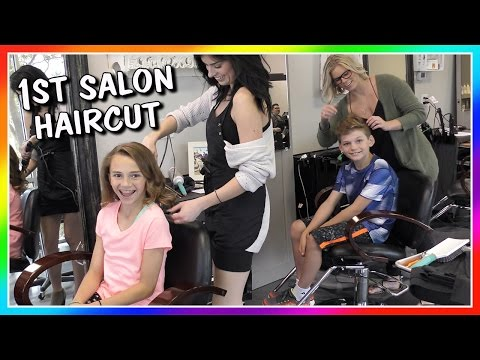 KAYLA AND TYLER'S FIRST SALON HAIRCUT | We Are The Davises