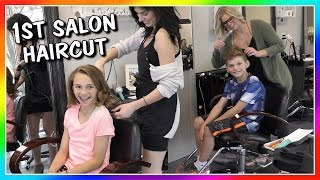 Video OUR FIRST SALON HAIRCUT EVER! | We Are The Davises download MP3, 3GP, MP4, WEBM, AVI, FLV Januari 2018