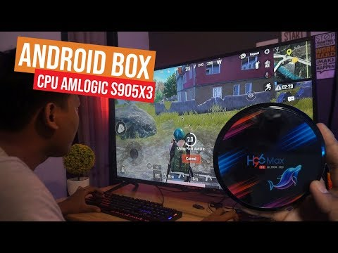 H96 Max X3 Android TV Box CPU Amlogic S905X3 PUBG Lancar (Unboxing + Review)