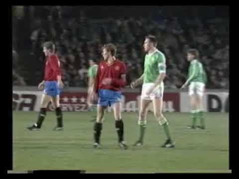 1990 FIFA World Cup Qualifiers - Northern Ireland V. Spain