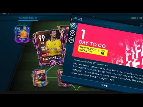 Claimed 99 ovrl Hummels Fifa Mobile 19 !! Last Fifa Mobile19 video ! New season kick off tomorrow !