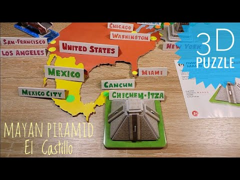 3D puzzle Mayan Pyramid El Castillo Mexico Geography for kids Tourist attractions