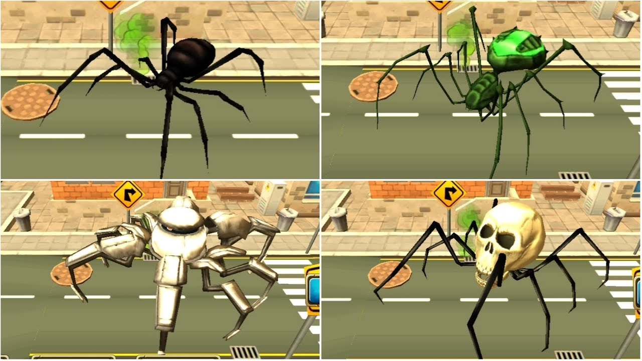 Spider Simulator Amazing City | Last 4 Spiders