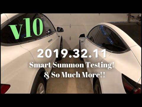 Tesla Software Update | v10 is Here! | 2019.32.11 | Smart Summon Tests!!