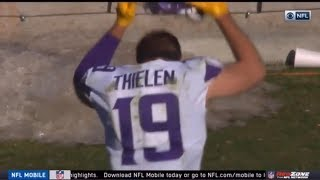 Adam Thielen TEMPER TANTRUM After Dropping 2 TD Passes (Vikings at Panthers)