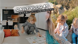🦠 DAILY VLOG #1 - Organisation pendant le confinement !