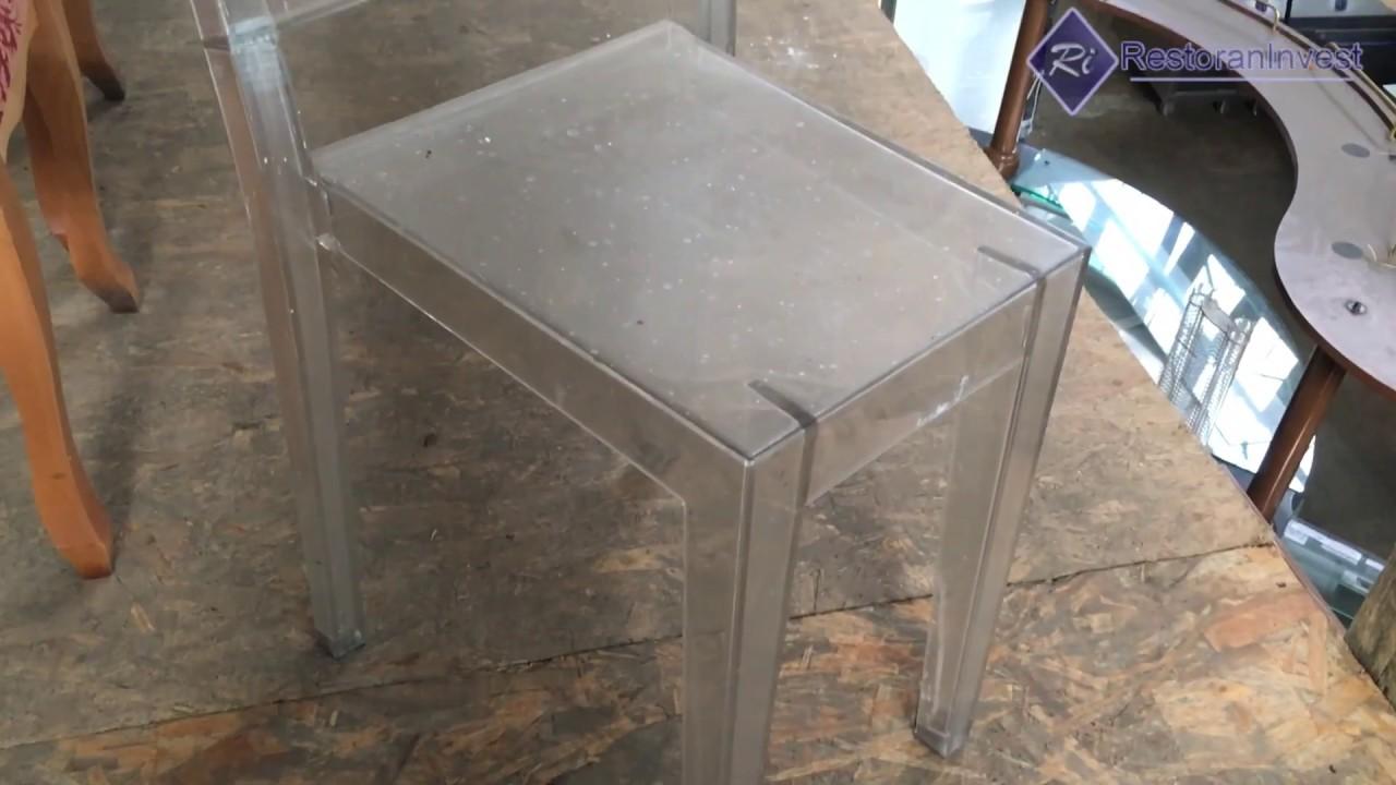 Пластиковые прозрачные стулья в интерьере - YouTube