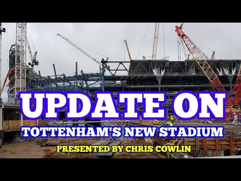 """UPDATE ON TOTTENHAM'S NEW STADIUM: """"Trees"""" Installed on the South Stand - 11 November 2017"""