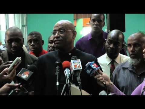 JTUM & Government meet in Port of Spain. Nov. 17, 2015 - Trinidad & Tobago