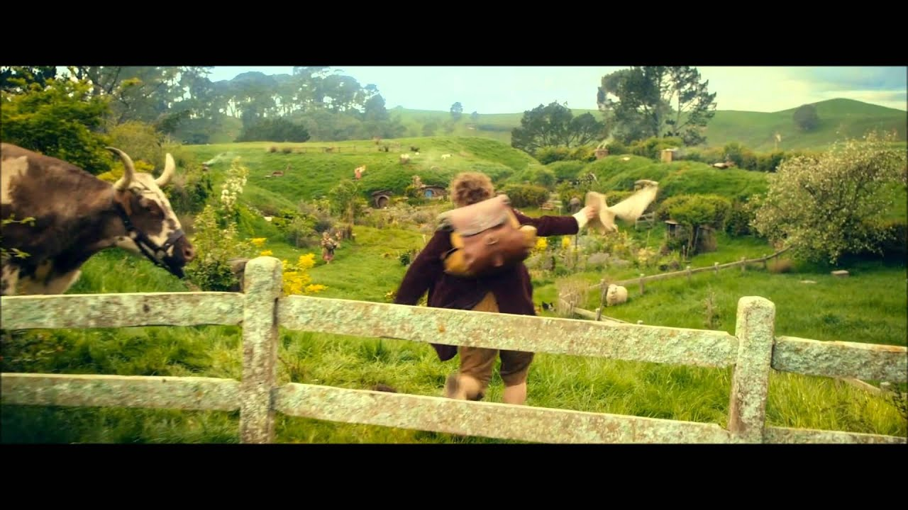 The Hobbit: An Unexpected Journey - Bilbo running through the Shire -  YouTube