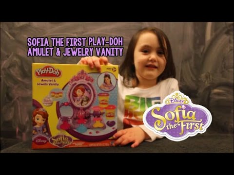 sofia the first play doh amulet   jewelry vanity youtube
